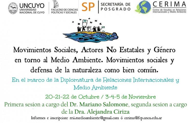 Curso sobre Movimientos Sociales, Actores No Estatales y Género en torno al Medio Ambiente