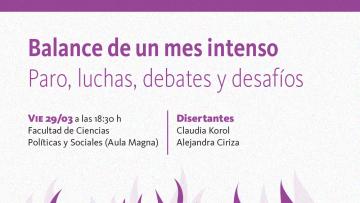 Cierre del Mes de las Mujeres y Disidencias con Claudia Korol y Alejandra Ciriza
