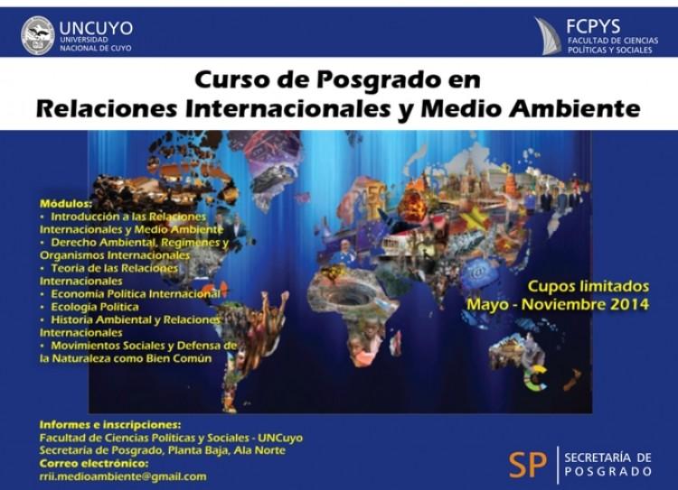 Curso de Posgrado en Relaciones Internacionales y Medio Ambiente