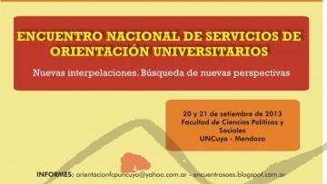 Encuentro Nacional de Servicios de Orientación Universitarios