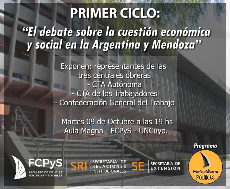 """Comienza el Programa """"Debates Políticos en Políticas"""" en la FCPyS"""