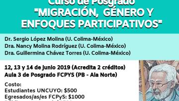 """Curso de Posgrado """"Migración, Género y Enfoques Participativos"""""""