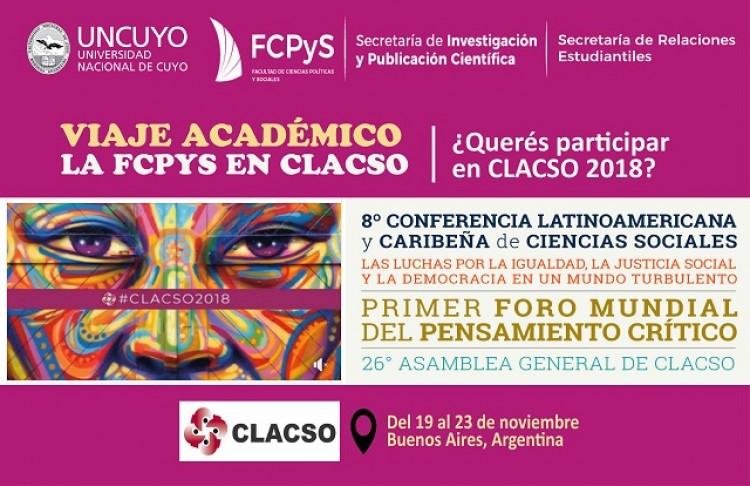 Viaje Académico Estudiantil: La FCPyS en CLACSO 2018