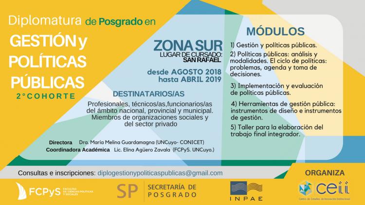 Zona Sur: Inscripciones abiertas en Diplomatura de Posgrado en Gestión y Políticas Públicas
