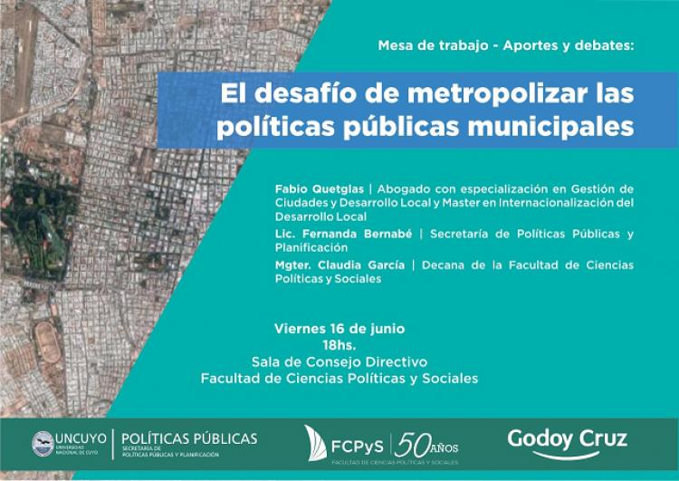 Mesa de trabajo sobre Políticas Públicas en la FCPyS