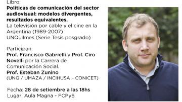 El Dr. Santiago Marino presentará su libro en la FCPyS
