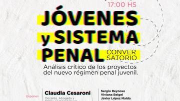 """Claudia Cesaroni expondrá en conversatorio sobre """"Jóvenes y Sistema Penal"""""""