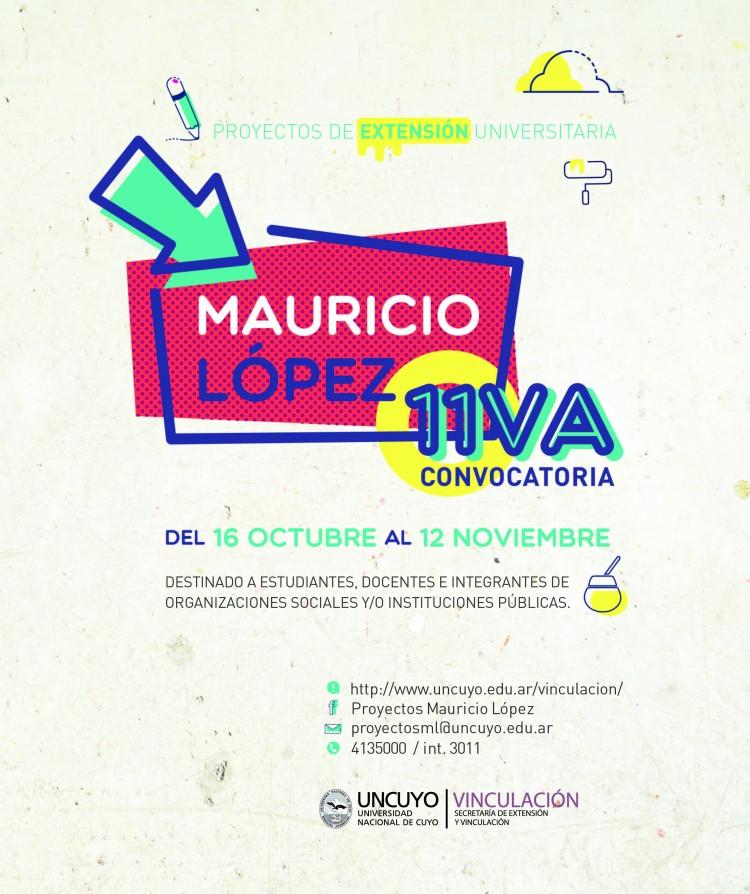 11va Convocatoria Proyectos Mauricio López