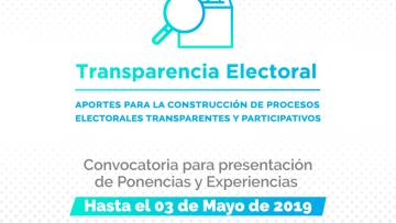 Jornadas de Estado Abierto y Transparencia Electoral
