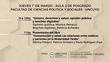"""Charla: """"Genero, derechos y salud: opinión pública y brechas digitales"""""""