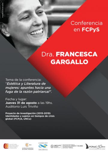 Conferencia sobre Estética y Literatura de mujeres en la FCPyS