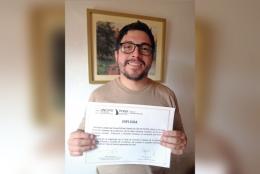 Michel Giraud Billoud es el flamante ganador del 6° Certamen de Derechos Humanos