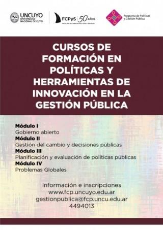 Curso en Políticas de formación y herramientas de innovación en Políticas Públicas