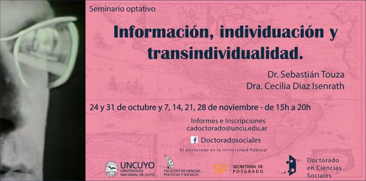 """Seminario optativo: """"Información, individuación y transindividualidad"""""""