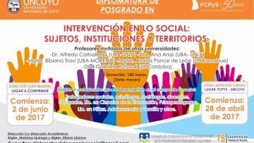 Inscripciones abiertas Diplomatura de Posgrado en intervención social