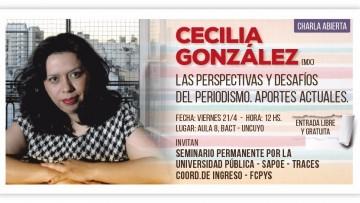 Cecilia González estará en una charla abierta en la FCPyS