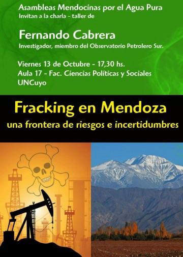 Charla: Fracking en Mendoza, una frontera de riesgos e incertidumbres