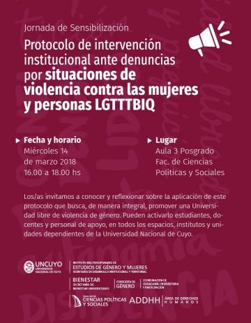 Charla sobre aplicación del Protocolo de Intervención Institucional ante casos de violencia