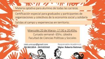 Comienza la Cátedra de Economía Social, Solidaria y Popular