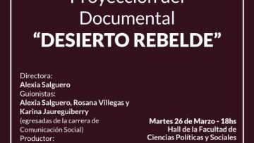 """Proyección del Documental: """"DESIERTO REBELDE"""""""