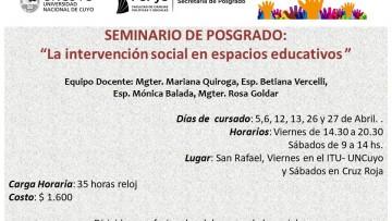Seminario en Intervención social en San Rafael