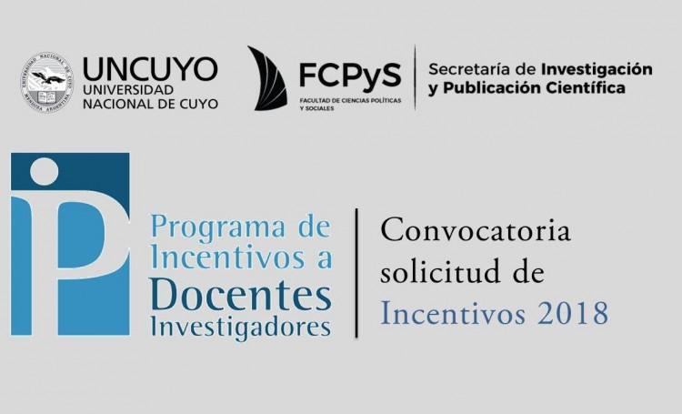 Convocatoria para la solicitud de Incentivos 2018