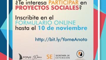 Convocan a participar de los proyectos Mauricio López
