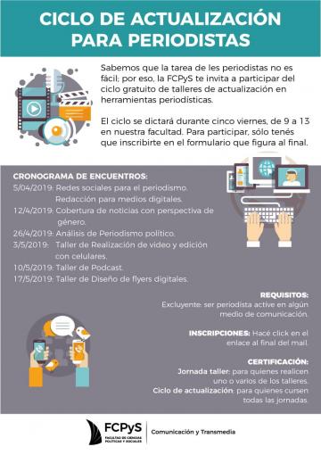 Ciclo gratuito de actualización para periodistas y comunicadores en la FCPyS