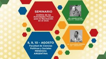 """Seminario """"Análisis de las Actividades físicas para la Recreación en el Ocio"""", tercer módulo"""