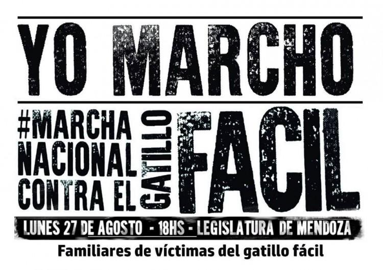 En Mendoza habrá marcha contra el Gatillo fácil