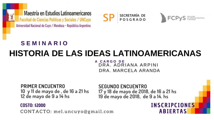 """Seminario """"Historia de las Ideas Latinoamericanas"""""""