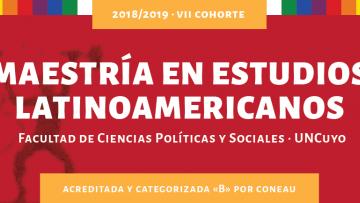 Inscripciones abiertas para la Maestría en Estudios Latinoamericanos