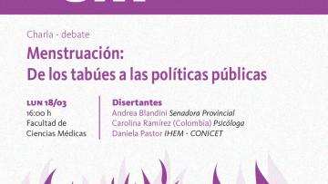 Charla- Debate: Menstruación desde un enfoque multidisciplinar