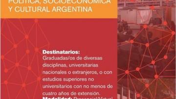 Posgrado en capacitación política y análisis de la realidad política, socioeconómica y cultural argentina