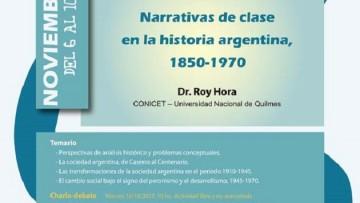 """Posgrado: """"Narrativas de clase en la historia argentina, 1850-1970"""""""
