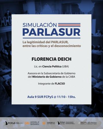 Florencia Deich disertará en la FCPyS