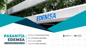 EDEMSA busca pasante de Comunicación Social