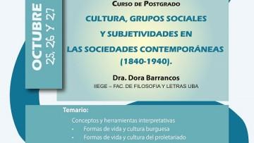 """Posgrado: """"Cultura, grupos sociales y subjetividades en las sociedades contemporáneas"""""""