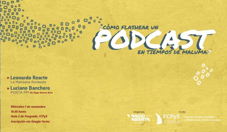 Radio Abierta dictará una capacitación sobre el Mundo Podcast