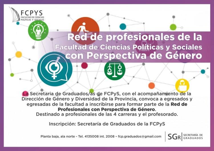 Red de profesionales de la Facultad de Ciencias Políticas y Sociales con perspectiva de género