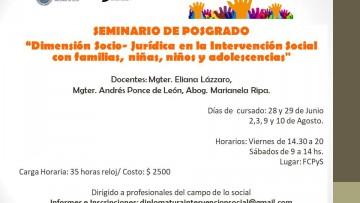 Seminario de posgrado sobre intervención social con familias, adolescencias, niñas y niños