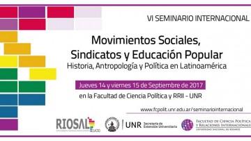 La FCPyS estará presente en el  VI Seminario Internacional de Movimientos Sociales, Sindicatos y Educación Popular