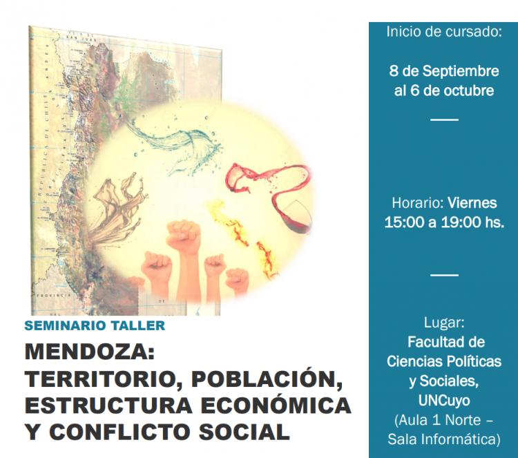 Mendoza: Territorio, población, estructura económica y conflicto social