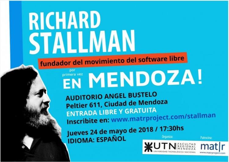 El fundador del movimiento de Software Libre visita Mendoza por primera vez