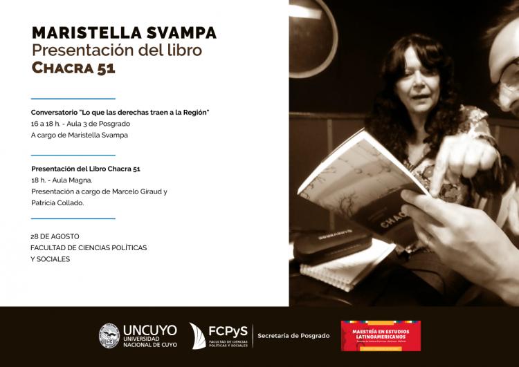 """Presentación de """"Chacra 51"""" de Maristella Svampa"""