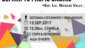 """Charla """"Marca Personal, comenzá a definir tu propio camino"""""""