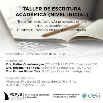 Taller de Escritura Académica para egresadas/os/es