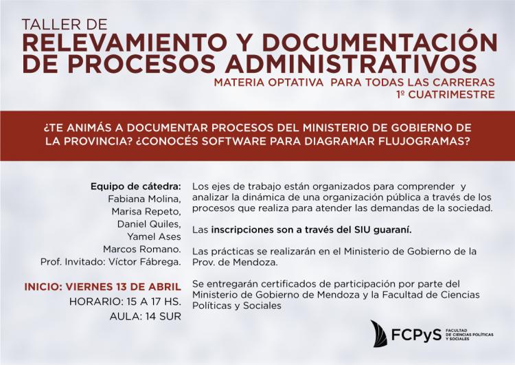 Taller de relevamiento y documentación de procesos administrativos