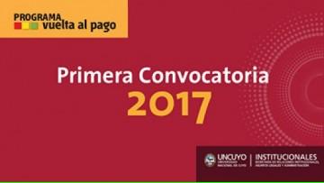 """Convocatorias """"Vuelta al Pago"""""""