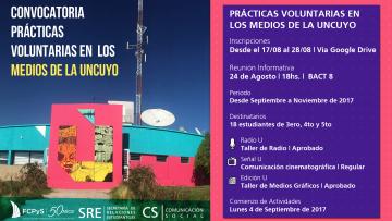 Cambio de fecha en charla informativa sobre voluntariado en medios de la UNCuyo